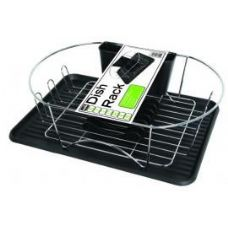 6 Units of DELUXE CHROME DISH RACK - BLACK - Dish Drying Racks