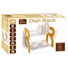 4 Units of Natural Wooden 2 Tier Dish Rack - Dish Drying Racks
