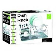 4 Units of Stainless Steel 2 Tier Dish Rack - Dish Drying Racks