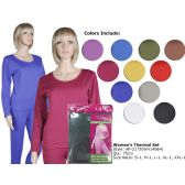 75 Units of Ladies Ultra Soft Microfiber Fleece Lined THermal Sets - Womens Thermals