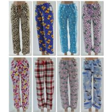 96 Units of LADIES FLEECE SLEEP PANTS / Lounge Pants - Ladies Lingerie & Sleep Wear