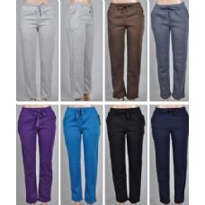 48 Units of LADIES FLEECE LINED PANTS-PLAIN 2 POCKETS SOLID COLORS - Ladies Lingerie & Sleep Wear