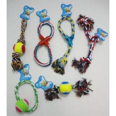 72 Units of Rope Pet Toy Assortment
