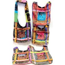 5 Units of Tie Dye Peace Sign Front Pocket Hobo Bags Nepal Purses - Handbags