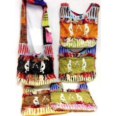 5 Units of Nepal Hobo Bags with Guys Dancing with the Music Design - Handbags