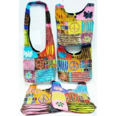 5 Units of Butterfly Peace Design Hobo Bags Sling Purses Ast - Handbags