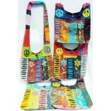 5 Units of Nepal Flower Peace Design Hobo Bags Sling Purses Ast - Handbags