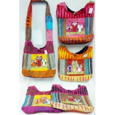 5 Units of Nepal Owl Group Design Hobo Bags Sling Purses Ast - Handbags