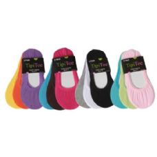 60 Units of 3 Pack Ladies Foot Liners Assorted Colors - Womens Foot Liners