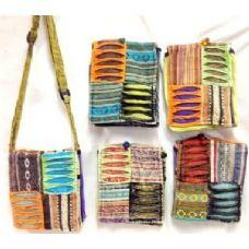 100 Units of Small Nepal Crossbody Bags Tie Dye Fabric Sling Purses