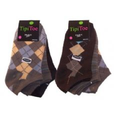 48 Units of Women 3 Pack Plaid Print Ankle Sock - Womens Ankle Sock
