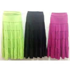 36 Units of  Long Maxi Skirt Assorted Colors and Sizes - Womens Skirts