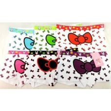 72 Units of Girl's Hello Kitty Bow Under Pants Panties Shorts - Girls Underwear