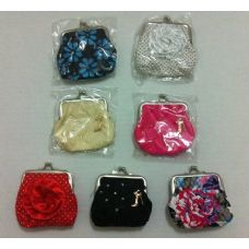 """72 Units of  3""""x4"""" Designed Snap Close Change Purse - Leather Purses and Handbags"""