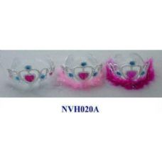 36 Units of Plastic Girl Crown with feather - Headbands