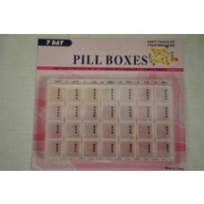 48 Units of 12 pcs Pill Box With date - Pill Boxes and Accesories