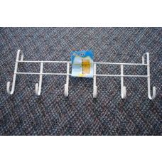 48 Units of White Over-the-Door Rack with 6 Hooks - Hooks