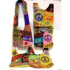 36 Units of Peace Love Cotton Tie Dye Nepal Handmade Purse Hobo Bag - Handbags