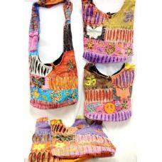 36 Units of Butterfly n Peace Sign Sling Crossbody Nepal Purse - Handbags