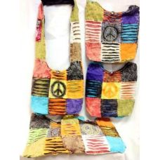 36 Units of Fabric Peace Sign Bag Crossbody Hobo Purse - Handbags