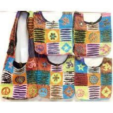 36 Units of Nepal Handmade Peace Star Sign with Flower Hobo Purse - Handbags