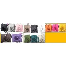 36 Units of  Small Flower Fashion Sling Purse Bags 12 pcs - Leather Purses and Handbags