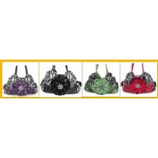 36 Units of  Rhinestone Flower Purses With Two handles - Leather Purses and Handbags