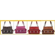 36 Units of Rhinestone Small Cross Western Fashion Purses - Leather Purses and Handbags