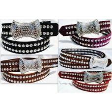 24 Units of Fashion High Quality Large Rhineston Buckle & Belt - Belt Buckles