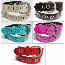 36 Units of  Fashion Heart Rhineston Buckle & Belt - Belt Buckles