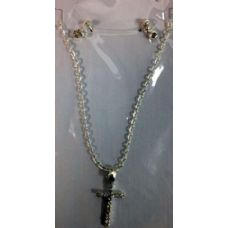 72 Units of Cross necklace with rhinestone studs set - Necklace Sets