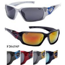 72 Units of Man Sports Sunglasses Revo Lens Assorted 2043 - Sport Sunglasses