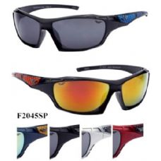 120 Units of Man Sports Sunglasses Revo Lens Included Assorted Color - Sport Sunglasses