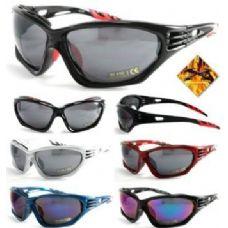 120 Units of Motorcycle Foam Sports Sunglasses 1004 - Sport Sunglasses