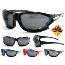 120 Units of Motorcycle Man Sports Foam Sunglasses - Sport Sunglasses