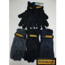 72 Units of Men's Fleece Gloves-Thermal - Fleece Gloves