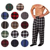 36 Units of Men's Flannel Pajama Bottoms In Assorted Plaid Patterns And Assorted Sizes (S,M,L,XL) - Mens Pajamas