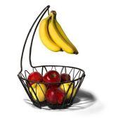12 Units of Black Metal Fruit Bowl with Banana Holder - Kitchen Gadgets & Tools