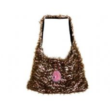 12 Units of Hand Knit Brown/Pink Over-The-Shoulder Bag - Handbags