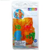"24 Units of 16""X12"" TROPICAL BUDDIES SWIM VEST IN PEGABLE POLY BAG"