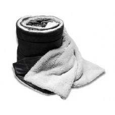 24 Units of Over-Sized Micro Mink Sherpa Blankets Black Color Only - Fleece Blankets / Throws