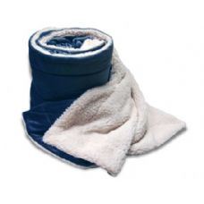 24 Units of Over-Sized Micro Mink Sherpa Blankets Navy Color Only - Fleece Blankets / Throws