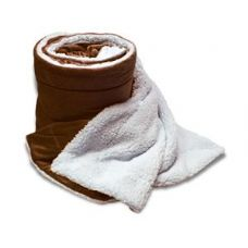 24 Units of Over-Sized Micro Mink Sherpa Blankets Chocolate Color Only - Fleece Blankets / Throws