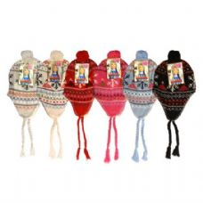 60 Units of Winter Helmet Hat Assorted Colors With Pom Pom