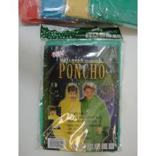 36 Units of Children's Rain Poncho - Umbrella