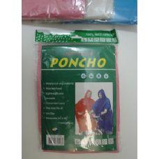36 Units of Adult Rain Poncho in Assorted Colors - Umbrellas & Rain Gear