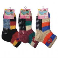36 Units of Winter Knit Socks Ladies w/ Non-Slip Bottom - Womens Crew Sock