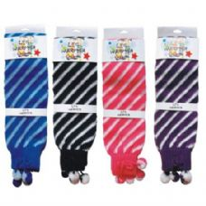 96 Units of Leg Warmer Stripes ASTD Colors - Womens Leg Warmers