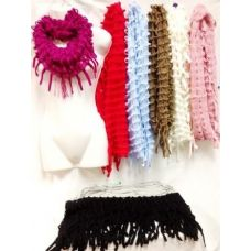 36 Units of Fringe Knit Infinity Circle Loop Scarves scarf - Womens Fashion Scarves
