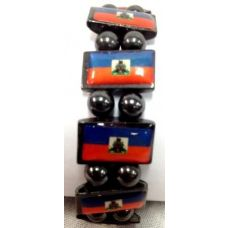 120 Units of Haiti Flag Bracelet Magnetic Hematite - Bracelets